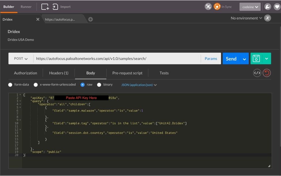 Step-By-Step: Using AutoFocus API and Postman for Automation - Palo