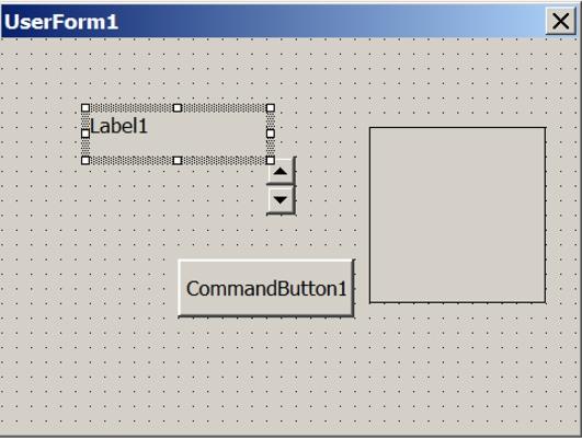 図 21: GUI 要素が含まれる最近のバージョンのVBA フォーム