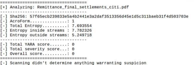 図4. PDFの静的解析