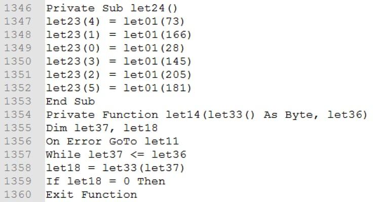 図9. VBAコード内のプロシージャと関数