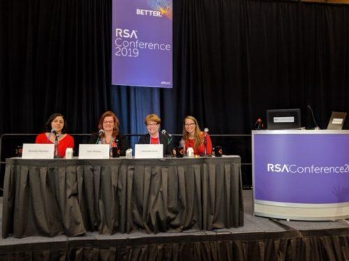 RSAカンファレンスに登壇する筆者を含む女性4名の写真