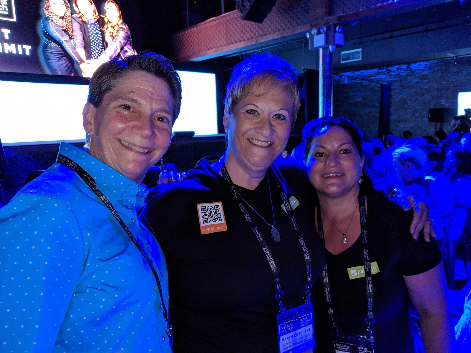 Employees from the Palo Alto Networks LGBTQIA+ Employee Network participate in Lesbians Who Tech.