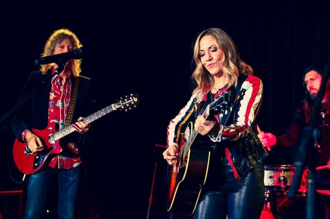 Sheryl Crow performs at the Palo Alto Networks Experience at the Virgin Hotel, part of the festivities surrounding RSAC day two.