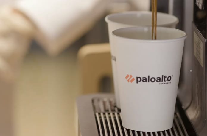 Palo Alto Networks handed out fresh coffee and swag to everyone who visited the booth on RSAC day three.