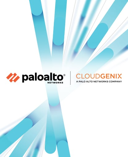 Palo Alto Networks and CloudGenix, a Palo Alto Networks Company - logos appear in the foreground, with a background of the branding for Prisma by Palo Alto Networks