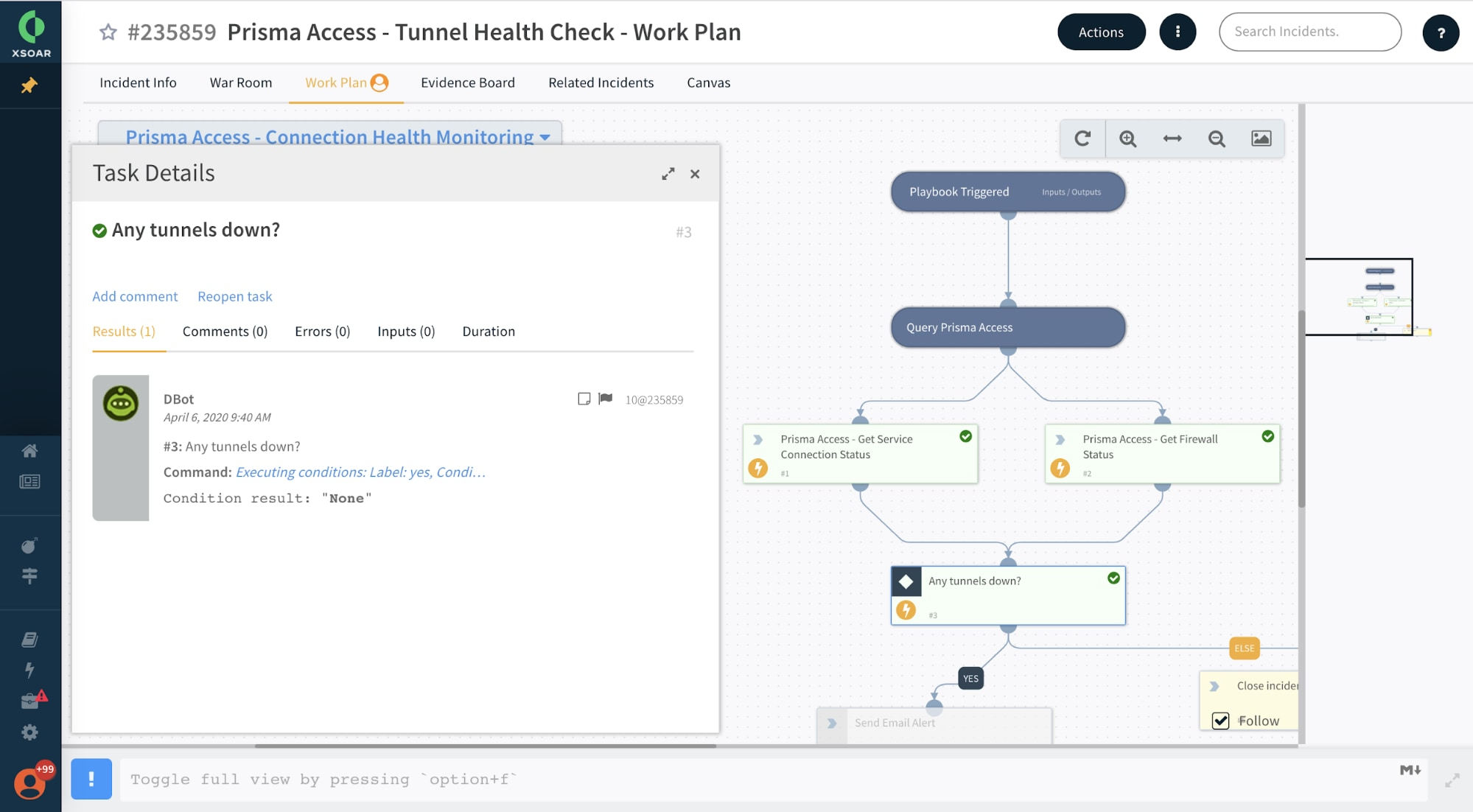 Prisma Access - Tunnel Health Check - Work Plan