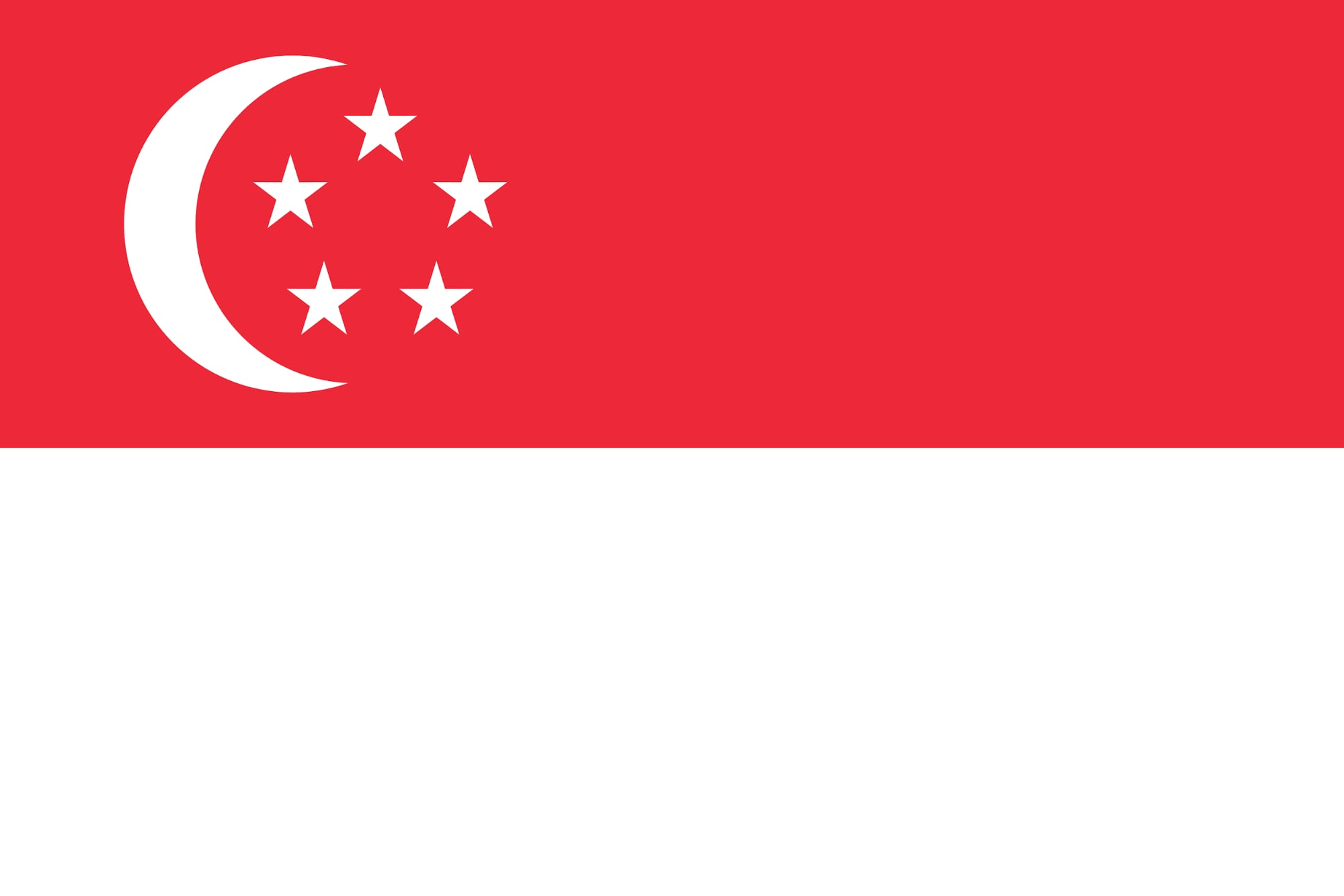 The flag of Singapore