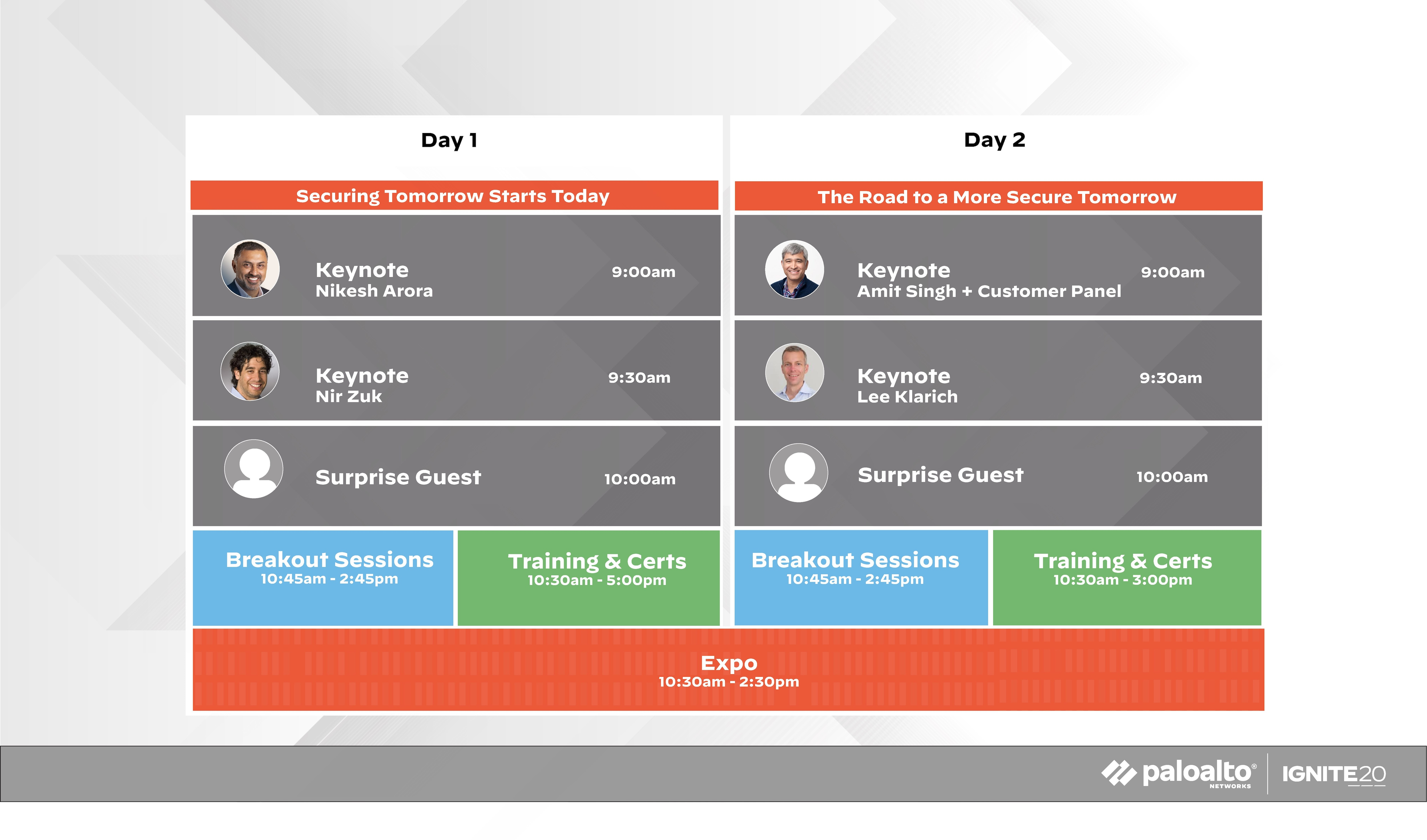 , The Ignite '20 Agenda: Mark off the Minutes for Every Event
