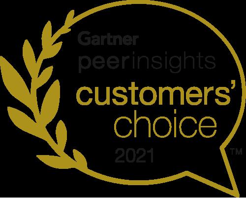 Gartner Peer Insights Customers' Choice 2021 Badge